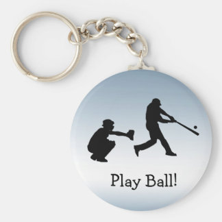 O basebol azul ostenta o chaveiro