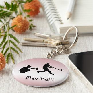 O basebol cor-de-rosa ostenta o chaveiro