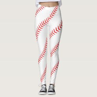 O basebol das mulheres costura (emendas) as legging