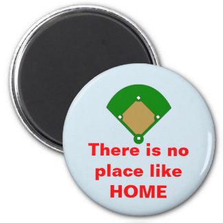 O basebol nenhum lugar gosta do ímã Home Imã