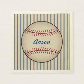 O basebol personalizado ostenta guardanapo do