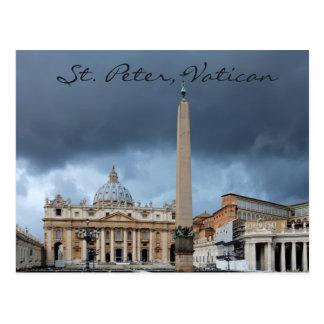O Basicila de St Peter, cidade santa do vaticano Cartão Postal