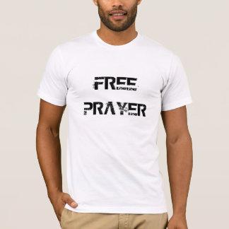 O básico branco dos homens LIVRES da ORAÇÃO Camiseta