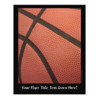O basquetebol ostenta a imagem modelo de panfleto