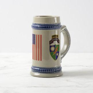 ò batalhão - 75th caneca de cerveja da guarda