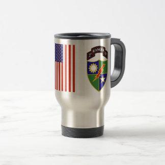 ò batalhão - 75th caneca de viagem do regimento de