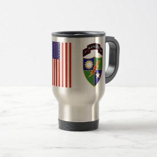 ó batalhão - 75th caneca de viagem do regimento de