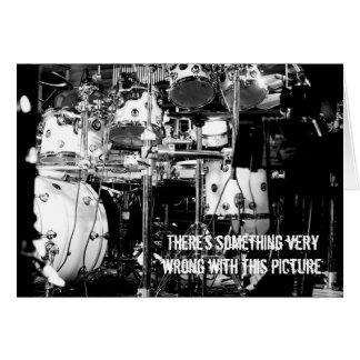 O baterista está matando-o! Cartão de aniversário