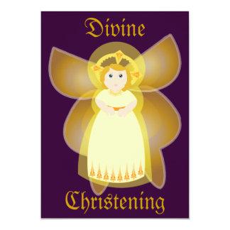 O batismo divino Convite-Personaliza Convite 12.7 X 17.78cm