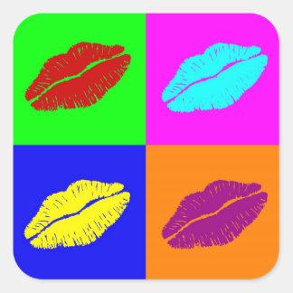 O batom beija etiquetas