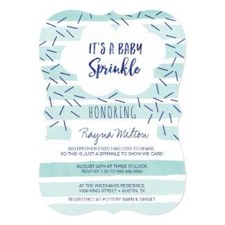 O bebê azul polvilha convites para um bebé