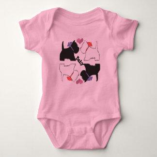 O bebê bonito da arte dos cães de Westie cresce Body Para Bebê