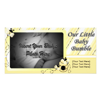 O bebê Bumble o anúncio Cartão Com Foto Personalizado