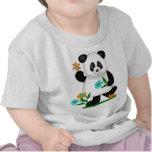 O bebê caçoa a panda com flores 2 t-shirts