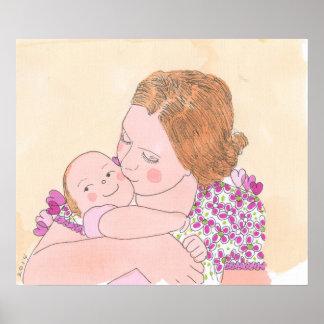 O bebé da mamã pôster