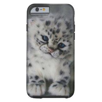 O bebê de leopardo de neve capa tough para iPhone 6