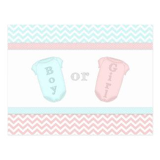O bebê do divertimento um género cor-de-rosa e cartão postal