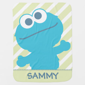 O bebê do monstro do biscoito | adiciona seu nome cobertor de bebe