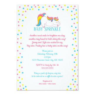 O bebê do unicórnio polvilha o convite