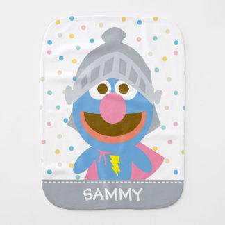 O bebê Grover na armadura | adiciona seu nome Paninhos Para Bebês