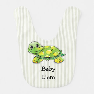 O bebê Liam, tartaruga bonito grande, Babador Infantil