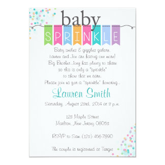 O bebê neutro do género polvilha convites