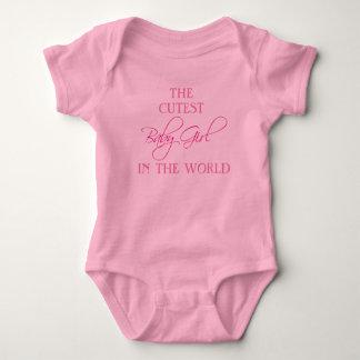 O bebé o mais bonito no bodysuit do mundo body para bebê