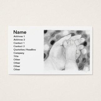 O bebê Toes o cartão de visita