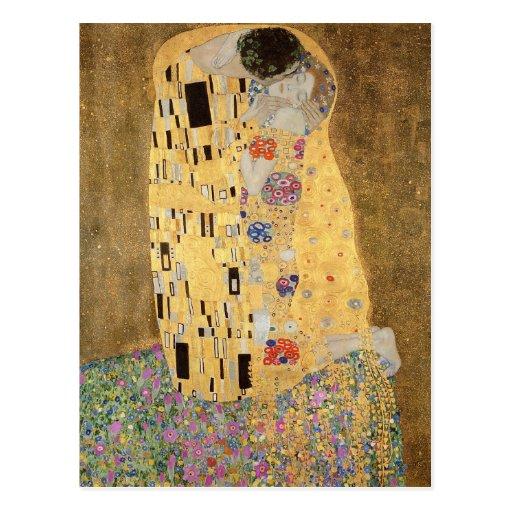O beijo, 1907-08 cartão postal