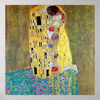 O beijo 2 por Gustavo Klimt Poster