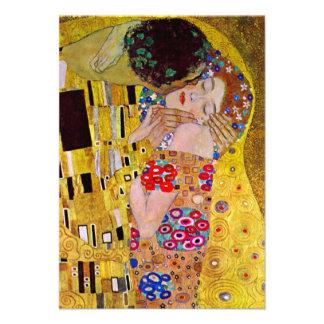 O beijo por Gustavo Klimt arte Nouveau do vintage Convites Personalizado