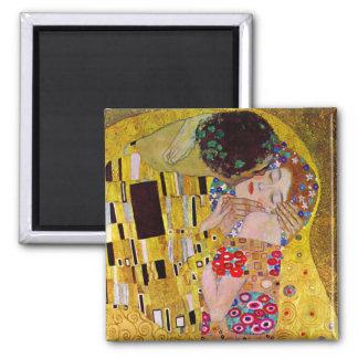 O beijo por Gustavo Klimt, arte Nouveau do vintage Imas De Geladeira