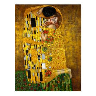 O beijo por Gustavo Klimt Cartão Postal