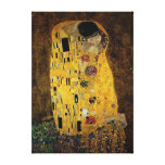 O beijo por Gustavo Klimt Impressão Em Canvas