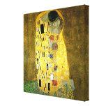 O beijo por Gustavo Klimt Impressão Em Tela