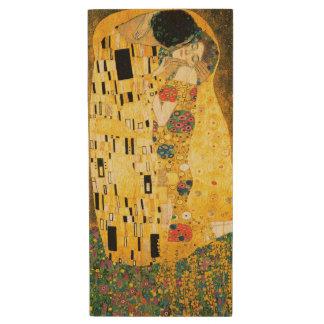 O beijo por Gustavo Klimt Pen Drive De Madeira