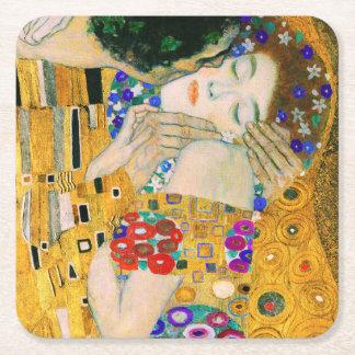O beijo por Gustavo Klimt Porta-copo De Papel Quadrado