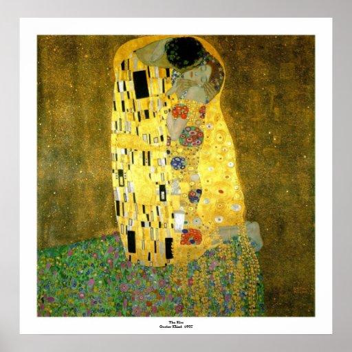O beijo por Gustavo Klimt Poster