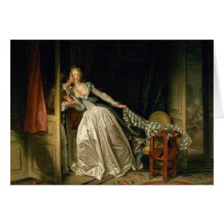 O beijo roubado por Jean-Honoré Fragonard Cartão Comemorativo