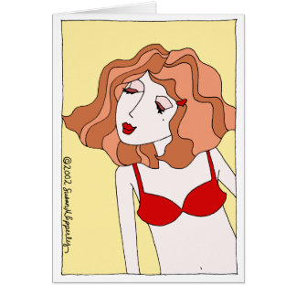 """O beijo """"sexy"""" bonito do desejo do amor dos cartão comemorativo"""