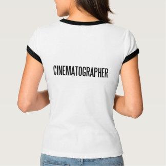 O Bella de CinematographerWomen+Campainha do fio Camiseta