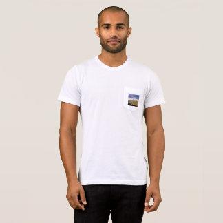 O Bella dos homens+T-shirt do bolso das canvas Camiseta