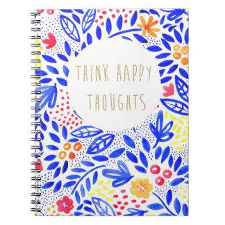Cadernos Espiral O Belle pensa o caderno feliz dos pensamentos