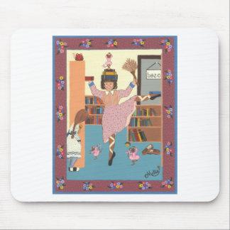 O bibliotecário da dança mouse pad