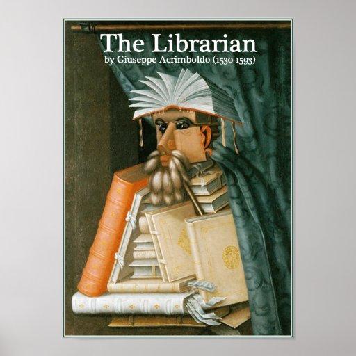 O bibliotecário por Arcimboldo Posters