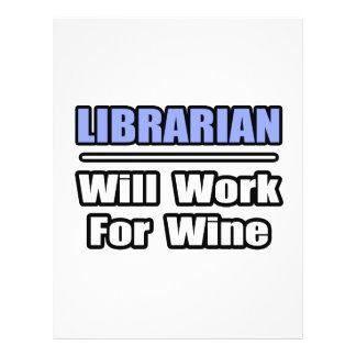 O bibliotecário… trabalhará para o vinho panfleto coloridos