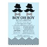 O bigode pequeno do homem do menino moderno JUNTA  Convite Personalizados