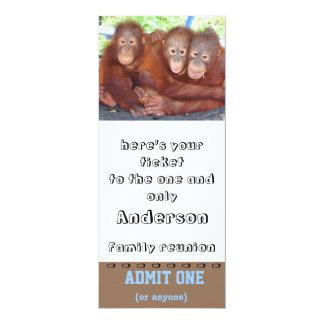 O bilhete da reunião de família admite um convite 10.16 x 23.49cm