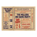 O bilhete dos esportes do vintage convida - o part convite personalizados