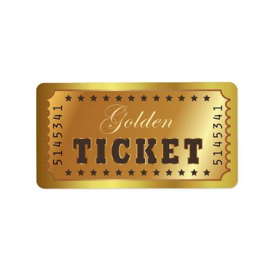O bilhete dourado admite que um Stars o vintage da Etiqueta De Endereço